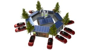 mobiles Hybrid E-Tankstellen