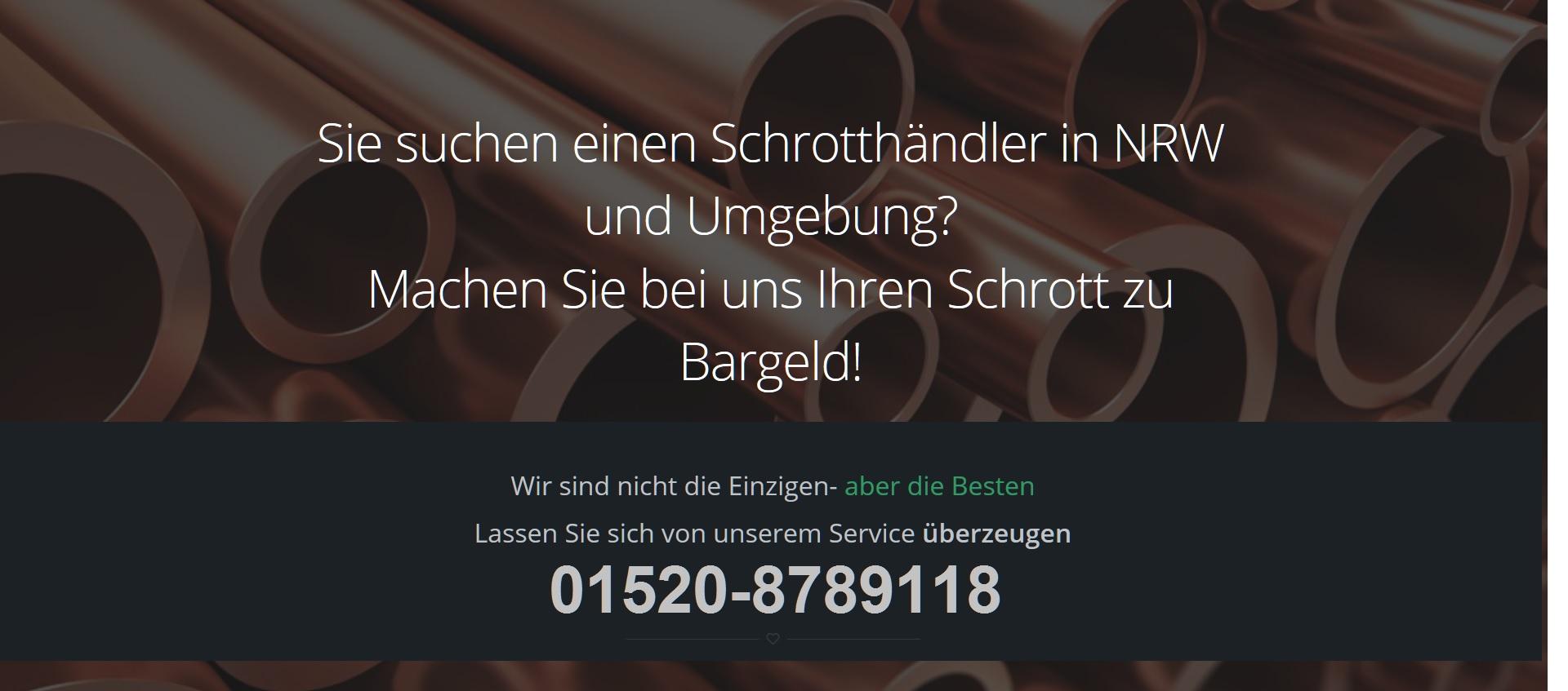 Schrottabholung Düsseldorf - Schrotthändler NRW