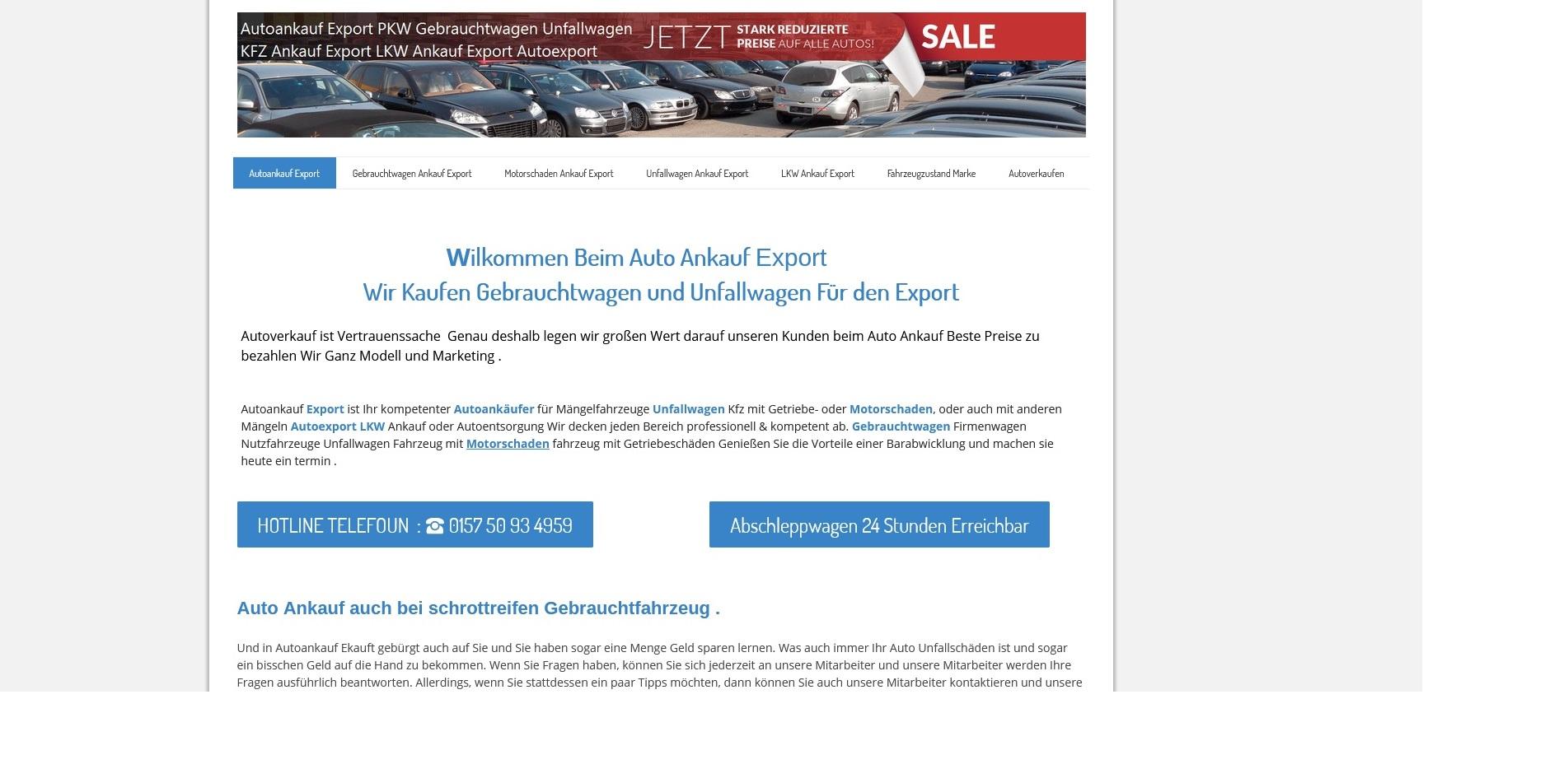 AutoAnkauf Bedburg: Wir Kaufen Gebrauchtwagen und Unfallwagen Für den Export